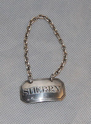 C Rawlings London Sterling Silver Sherry Decanter Label