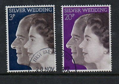 GB 1972 Royal Silver wedding fine used set stamps
