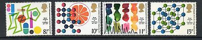 GB 1977 R I of Chemistry centenary MNH mint set stamps
