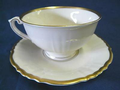 SYRACUSE BRANTLY GOLD TRIM CUP & SAUCER SET
