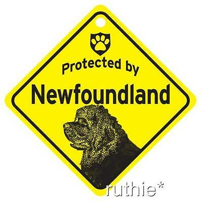 Protected by Newfoundland Window Sign Made in USA