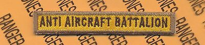 US Army ANTI AIRCRAFT BATTALION tab patch