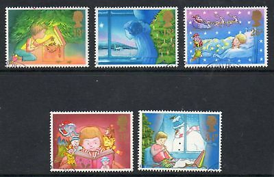 GB 1987 Christmas fine used set stamps