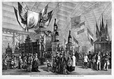 Wine Display Exhibit Worlds Fair 1876 Agricultural Hall
