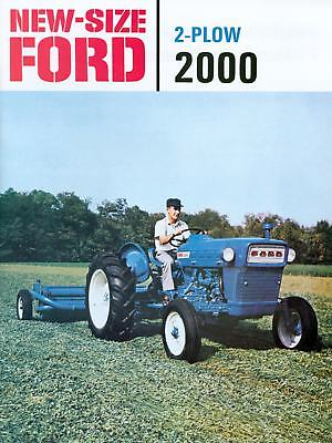 62 63 64 65  FORD TRACTOR 2 PLOW 2000 SALES BROCHURE