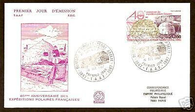 French Antarctic 1988 Expedition Anniversary Fdc