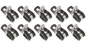 "3/8"" Steel Fuel Line Clamps - EPDM Rubber Cushion Clamp 171006 10pk @SPEED TECH"