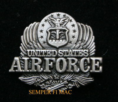 US AIR FORCE SILVER EAGLE HAT PIN HAT PIN USAF AFB WOW