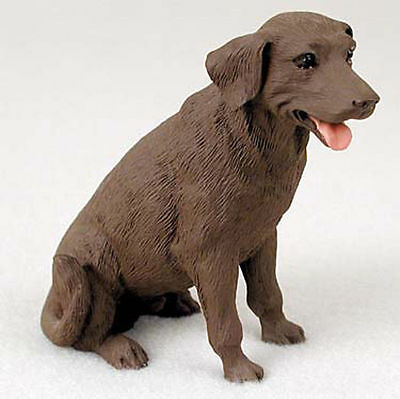 Chocolate Lab Hand Painted Collectible Dog Figurine