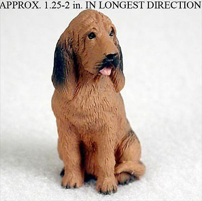 Bloodhound Mini Resin Hand Painted Dog Figurine Statue Hand Painted