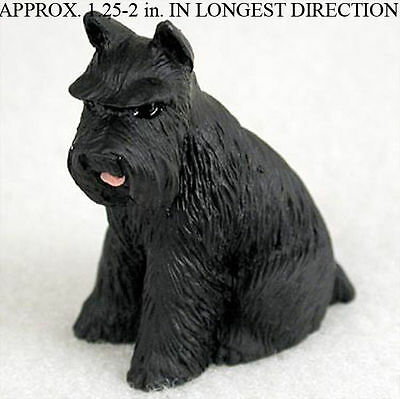 Schnauzer Mini Resin Hand Painted Dog Figurine Statue Hand Painted Black