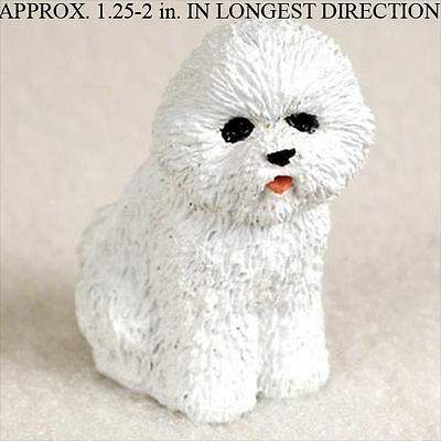 Bichon Frise Mini Hand Painted Figurine Hand Painted