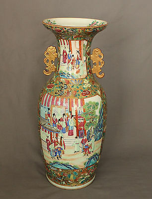 Large 19th Century Chinese Porcelain Canton Vase