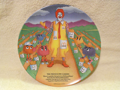 McDonald's The French Fry Garden 1989 Collectible Plate  Ronald  McDonald