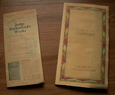 Watchtower Studies in the Scriptures Rutherford Ads Rep