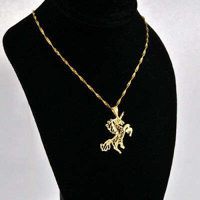 Beautiful Mysterious 14k UNICORN Charm/ Pendant 18mm x 24mm
