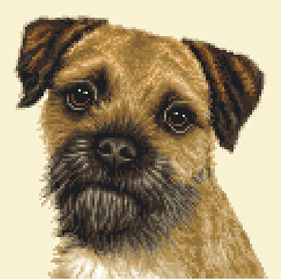 BORDER TERRIER dog  complete counted cross stitch sewing kit