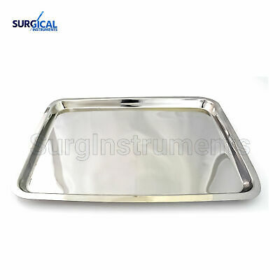 """Mayo Tray 10.75"""" X 14.50"""" X .75"""" Surgical Instruments Non Perforated Dental"""