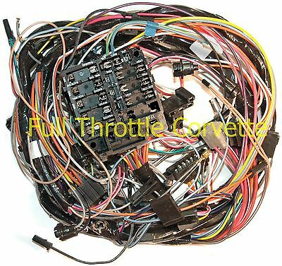 1966 66 corvette dash wiring harness new • 460 80 picclick 1973 corvette dash wiring harness out air conditioning new