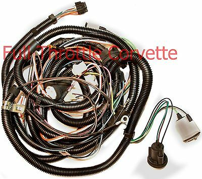 1979 Corvette Rear Body Wiring Harness Without Rear Window Defrost Option