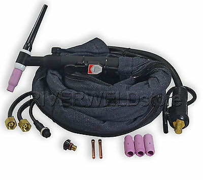 WP-18FV-12-2 TIG welding torch Flexible  Water cooled