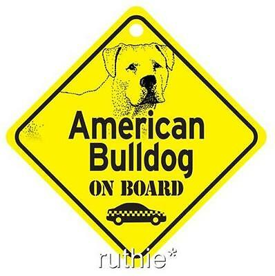 American Bulldog On Board Dog Window Sign Made in USA