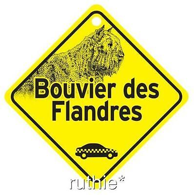 Bouvier des Flandres On Board Dog Window Sign Made in USA