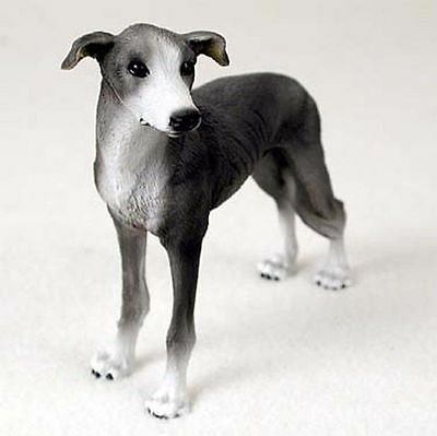 Greyhound Figurine Hand Painted Collectible Statue Gray