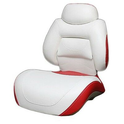 Tracker M2519Ab Off White/red Folding Boat Fishing Seat