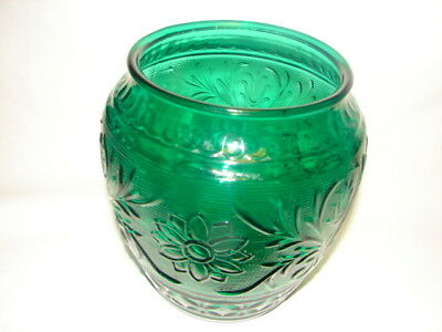 1960's Anchor Hocking Forest Green Sandwich Cookie Jar