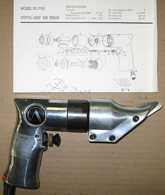 Air Pneumatic Pistol Grip Sheet Metal Cutter Cutting Shear Tool ACME MP7705