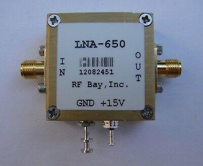 30KHz-600MHz 50dB Low Noise Amplifier, LNA-650, SMA