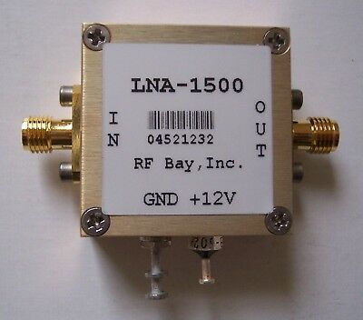 10-1500MHz 26dB Gain Low Noise Amplifier, LNA-1500, SMA