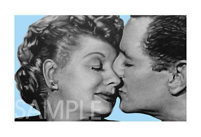 Lucy and Ricky Desi I LOVE LUCY CANVAS ART POSTER PRINT
