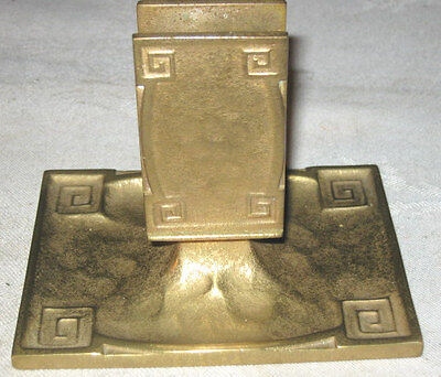 Antique Mission Arts Crafts Gold Tiffany Studios Bronze Ashtray Match Holder