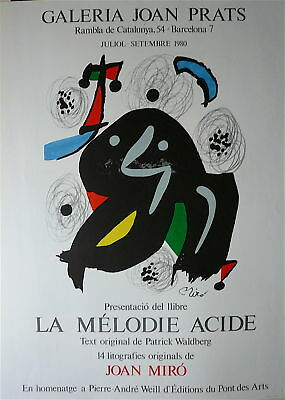 Joan Miro Affiche originale lithographie art abstrait abstraction