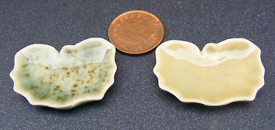 1:12 Scale Ceramic Butterfly Dish Dolls House Miniature Bowl Kitchen Accessory