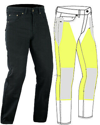 "MOTORCYCLE BLACK JEANS  KEVLAR REINFORCED WITH DuPont™  32""W"