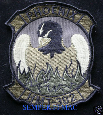 Hmt-302 Phoenix Patch Us Marines Pilot Crew Ch-53 Mag Maw Pin Up Helicopter Helo