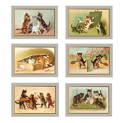 36 Victorian Cat Greeting Cards for all Occasions EC0016