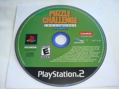 Puzzle Challenge Crosswords and More! - PS2 PlayStation 2 game Disc Only