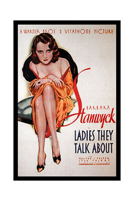 Barbara Stanwyck Movie Art Canvas Poster