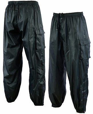 NEW MOTORCYCLE BIKER UNISEX WET WEATHER STORM RAIN PANTS size S - 8XL