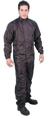 New 2 Pce Motorcycle Motorbike Wet Weather Rain Suit Mesh Lined For Comfort