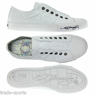 Ed Hardy Mens Casual Canvas Low Trainers Shoes Uk 9-12