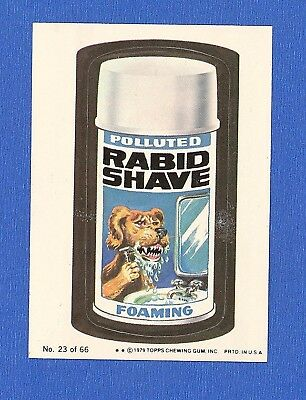 1979  Topps  Wacky Packages 1st Series # 23 Rabid Shave
