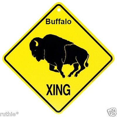 Buffalo Crossing Xing Sign New