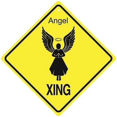 Angel Crossing Xing Sign New