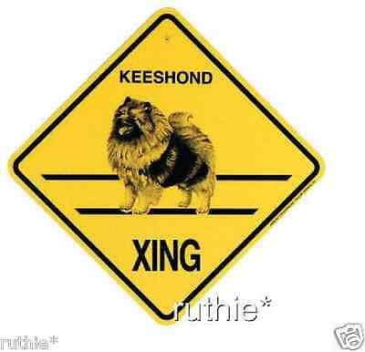 Keeshond Dog Crossing Xing Sign New