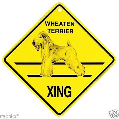 Wheaten Terrier Dog Crossing Xing Sign New